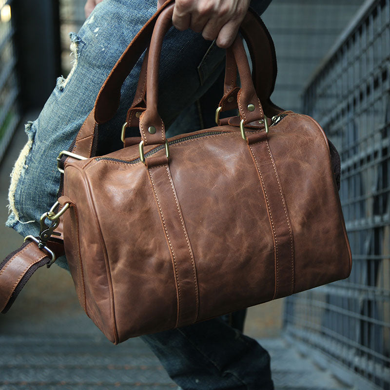 4e20f9ab3 Next. $139.00$139.00. Overview:. Design: Leather Mens Small Weekender Bags  Travel Bag Shoulder Bags for men