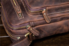Men Leather Small Messenger Bag Cool Vintage Shoulder Bag for men