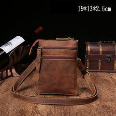 Vintage Leather Men's CELL PHONE HOLSTER Belt Pouch Waist Small Side Bag For Men