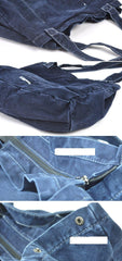 Navy Blue Canvas Mens Denim Bag Tote Bag Messenger Bag Army Green Denim Tote Shoulder Bag For Men and Women