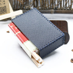 Cool Cigarette Holder Handmade Leather Mens Blue Cigarette Holder Cases for Men