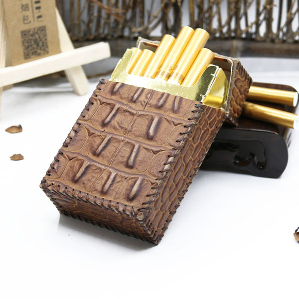 Cool Leather Cigarette Holder Handmade Mens Cigarette Holder Case for Men