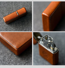 Cool Mens Leather Zippo Lighter Case Handmade Custom Zippo lighter Holder for Men