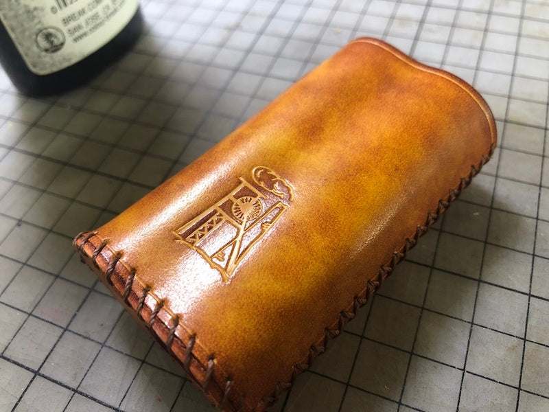 Handmade Tooled Constandine Leather Brown Mens DICODES BOXMINI Holder Cigarette Case for Men