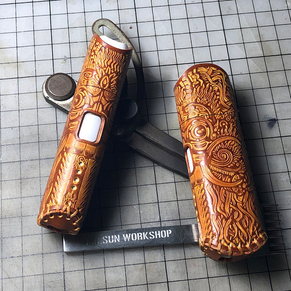 Handmade Leather Totem Mens Kt&g Lil Mini Cigarette Case Kt&g Lil Mini Holder for Men