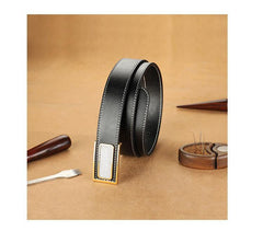 Handmade Mens Black Leather Leather Belts PERSONALIZED Leather Buckle Belt for Men
