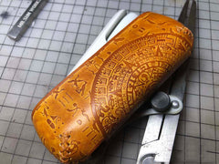 Handmade Tooled Moment Leather Mens IQOS 3.0 Cigarette Case IQOS3.0 Holder for Men
