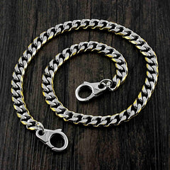 18'' SOLID STAINLESS STEEL BIKER SILVER GOLD WALLET CHAIN LONG PANTS CHAIN Jeans Chain Jean Chain FOR MEN