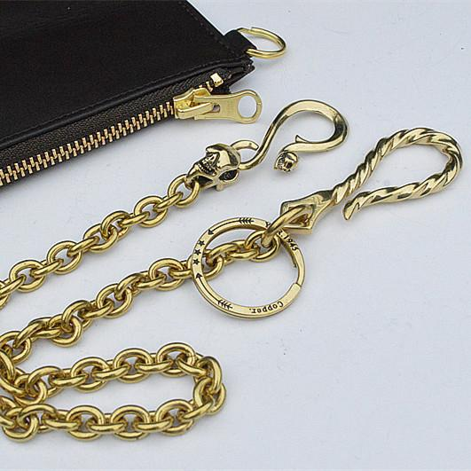 Solid Brass Cool Punk Rock Wallet Chain Biker Trucker Wallet Chain Trucker Wallet Chain for Men