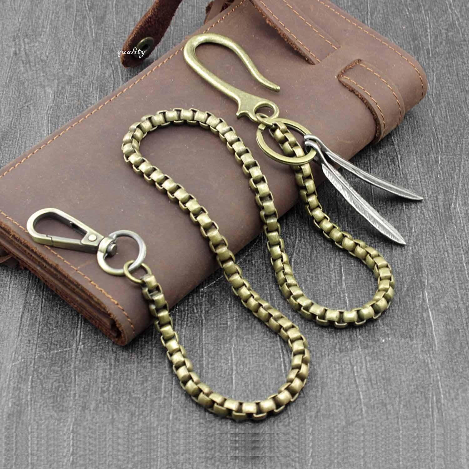 Solid Brass Hook Wallet Chain Cool Punk Rock Biker Trucker Wallet Chain Trucker Wallet Chain for Men