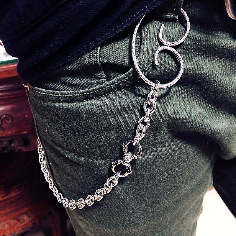 Solid Stainless Steel Cool Punk Rock Wallet Chain Biker Trucker Wallet Chain Trucker Wallet Chain for Men