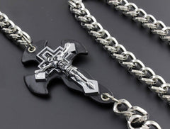 Solid Stainless Steel Cross Wallet Chain Cool Punk Rock Biker Trucker Wallet Chain Trucker Wallet Chain for Men