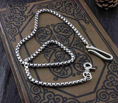 Solid Stainless Steel Long Wallet Chain Cool Punk Rock Biker Trucker Wallet Chain Trucker Wallet Chain for Men