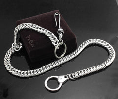 Solid Stainless Steel Skull Wallet Chain Cool Punk Rock Biker Trucker Wallet Chain Trucker Wallet Chain for Men