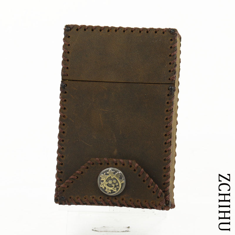 Cool Handmade Leather Mens Coffee Cigarette Holder Case for Men