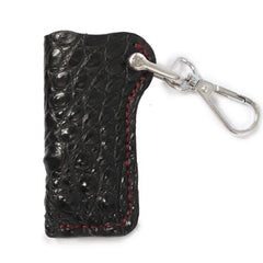 Cool Mens Leather Black disposable Lighter Case with Loop lighter Holder with clips