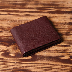 Genuine Leather Mens Cool billfold Leather Wallet Men Small Wallets Bifold for Men
