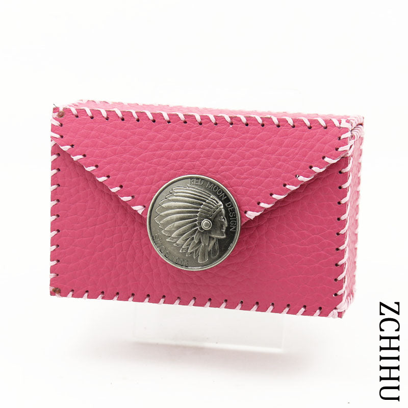 Cool Handmade Leather Womens Pink Indian Cigarette Holder Case for Women