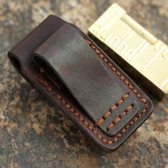 Cool Mens Leather Dunhill Rollagas Lighter Case with Loop Dunhill lighter Holder with clips