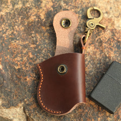 Cool Mens Leather Zippo Lighter Case Zippo lighter Holder with clip