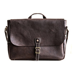Genuine Leather Mens Messenger Bag Briefcase Laptop Bag Bike Bag Cycling Bag for men