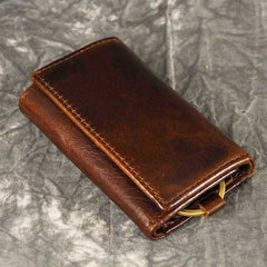 Handmade Leather Mens Cool Key Wallet Change Coin Wallet Key Holder Case Card Wallet for Men