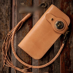 Handmade Leather Mens Chain Biker Wallet Cool Leather Wallet With Chain Wallets for Men