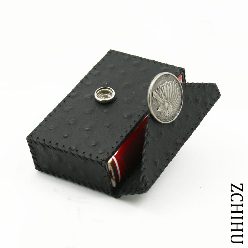 Cool Handmade Leather Mens Black Indian Cigarette Holder Case for Men