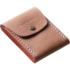 Cool Handmade Wooden Leather Mens Wallet Small Card Holder Coin Wallet for Men