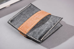 Handmade Leather Mens Cool billfold Wallet Card Holder Small Card Slim Wallets for Men