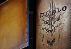 Handmade Leather Tooled Diablo Mens Long Wallet Cool Leather Wallet Clutch Wallet for Men