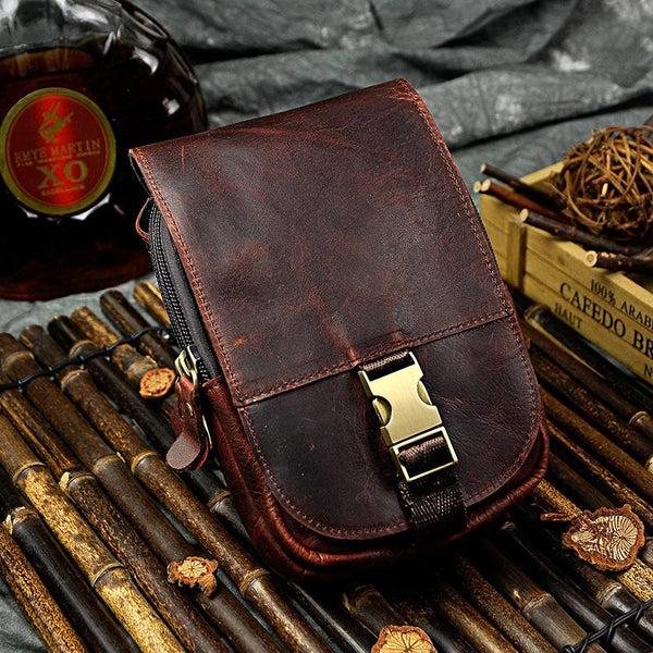 Vintage Leather Belt Pouches for Men Waist Bags BELT BAG For Men