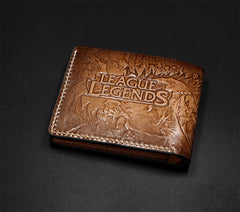 Handmade Leather Tooled League of Legends LOL Thresh Mens billfold Wallet Cool Leather Wallet Slim Wallet for Men