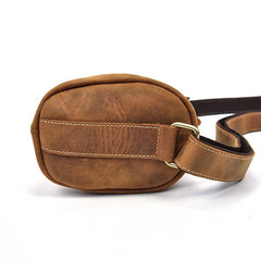 Cool Leather Sling Bag for Men Vintage Chest Bag Crossbody Sling Bags For Men