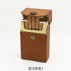Handmade Leather Cigarette Holder Mens Brown Cool Cigarette Holder Case for Men