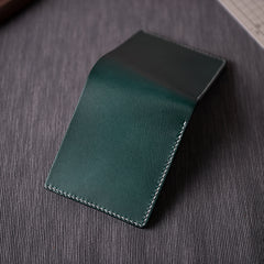 Handmade Leather Mens Cool Slim Leather Wallet Men Small Wallets Bifold for Men Women