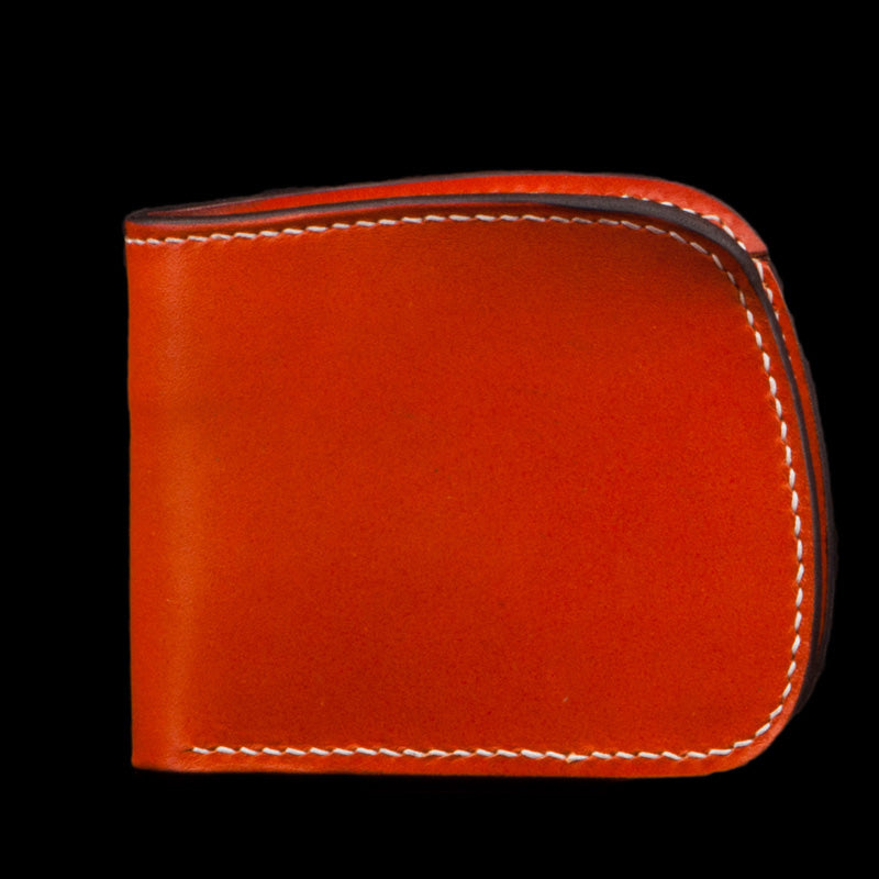 Handmade Leather Bifold Mens Short Wallet Cool Slim Wallet Biker Wallet for Men
