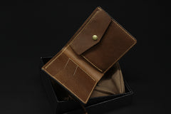 Handmade Leather Tooled Hobbit2 Mens billfold Wallet Cool Leather Wallet Slim Wallet for Men