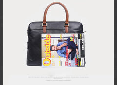 Genuine Leather Mens Cool Messenger Bag Briefcase Chest Bag Bike Bag Cycling Bag for men