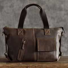 Genuine Leather Mens Cool Messenger Bag Handbag Briefcase Work Bag Business Bag for men