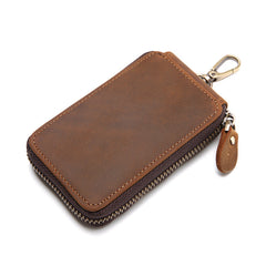 Handmade Leather Mens Cool Key Wallet Car Key Holder Case Card Wallet for Men