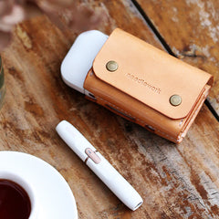 Cool Leather Mens IQOS Cigarette Case With Belt Clip Loop IQOS Holder for Men