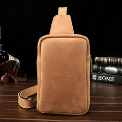 Cool Leather Mens Sling Shoulder Bag Sling Bags Chest Bag Sling Backpack for men