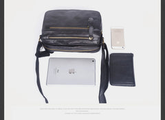 Genuine Leather Mens Small Cool Messenger Bag Chest Bag Bike Bag Cycling Bag for men