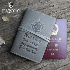 Handmade Leather Mens Cool billfold Wallet Passport Card Holder Small Card Slim Wallets for Men