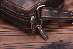 Genuine Leather Mens Cool Messenger Bag SHOULDER BAG CHEST BAG BIKE BAG CYCLING BAG