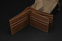 Handmade Leather Tooled Predator Mens billfold Wallet Cool Leather Wallet Slim Wallet for Men