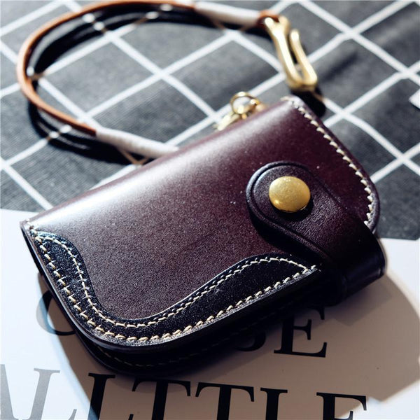 Cool Leather Mens Key Wallet Small Chain Wallet for Mens