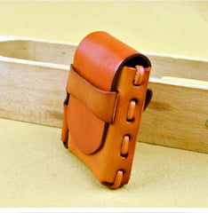 Cool Leather Mens Cigarette Case with Belt Loop Lighter Holder for Men