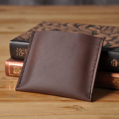 Handmade Mens Cool billfold Leather Wallet Men Small Card Slim Wallets Bifold for Men